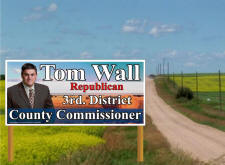 Full Color Political Camapign Billboard Signs